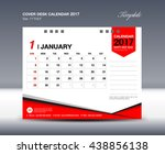 january desk calendar 2017... | Shutterstock .eps vector #438856138