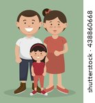 happy family design  vector... | Shutterstock .eps vector #438860668