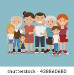 happy family design  vector... | Shutterstock .eps vector #438860680