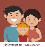 happy family design  vector... | Shutterstock .eps vector #438860704