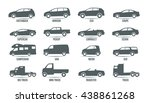 car model and type. objects... | Shutterstock .eps vector #438861268