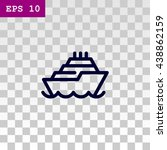 ship icon | Shutterstock .eps vector #438862159