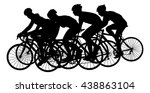 group of bicyclists in race... | Shutterstock .eps vector #438863104