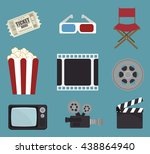cinema entertainment design ... | Shutterstock .eps vector #438864940