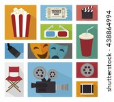 cinema entertainment design ... | Shutterstock .eps vector #438864994