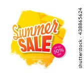 summer sale. vector template... | Shutterstock .eps vector #438865624
