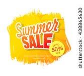 summer sale. vector template... | Shutterstock .eps vector #438865630