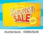 summer sale. vector template... | Shutterstock .eps vector #438865648