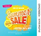 summer sale. vector template... | Shutterstock .eps vector #438865660