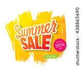 summer sale. vector template... | Shutterstock .eps vector #438865690