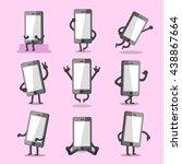 cartoon smartphone character... | Shutterstock .eps vector #438867664