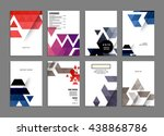 abstract background. geometric... | Shutterstock .eps vector #438868786