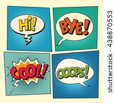 set of retro comic bubbles pop... | Shutterstock .eps vector #438870553