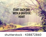 inspirational quote with phrase ... | Shutterstock . vector #438872860