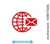 mail icon vector illustration... | Shutterstock .eps vector #438875686