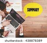 business team working in office ... | Shutterstock . vector #438878389