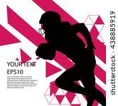 american football player... | Shutterstock .eps vector #438885919