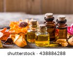 bottle of aroma essential oil...   Shutterstock . vector #438886288