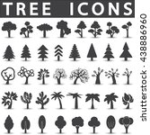 tree icons set | Shutterstock .eps vector #438886960