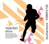 american football player... | Shutterstock .eps vector #438891730