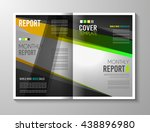 brochure template  flyer design ... | Shutterstock .eps vector #438896980