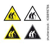 elderly traffic sign vector set | Shutterstock .eps vector #438898786