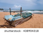 fisherman boat at mount lavinia ... | Shutterstock . vector #438904318
