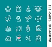 party icons and celebration... | Shutterstock .eps vector #438904843