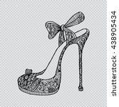 high heel shoes. zentangle... | Shutterstock .eps vector #438905434