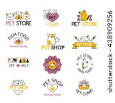 Stock vector logo for pet shop or animal clinic pet shop logo 438909256