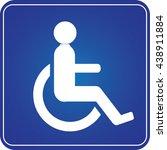 handicap parking or wheelchair...   Shutterstock .eps vector #438911884