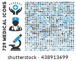 medical icon set with 729... | Shutterstock .eps vector #438913699