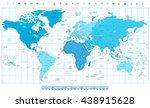world map with different... | Shutterstock .eps vector #438915628
