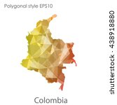 colombia map in geometric... | Shutterstock .eps vector #438918880