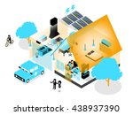 beautiful isometric design of... | Shutterstock .eps vector #438937390
