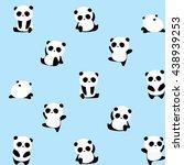 vector pattern  panda bear... | Shutterstock .eps vector #438939253