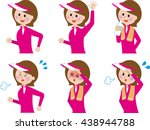 young woman   fitness  set | Shutterstock . vector #438944788