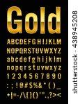 gold letter | Shutterstock .eps vector #438945208