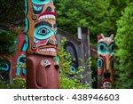 Detail Of Totem Pole At Saxman...