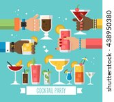 cocktail alcohol party concept... | Shutterstock .eps vector #438950380