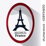 france design. eiffel tower... | Shutterstock .eps vector #438954850