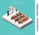 isometric business people... | Shutterstock .eps vector #438955804