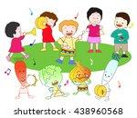 music festival of vegetables... | Shutterstock .eps vector #438960568