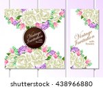 invitation with floral... | Shutterstock . vector #438966880
