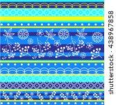 tribal geometric pattern | Shutterstock .eps vector #438967858