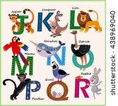 Kids Vector Zoo Alphabet With...