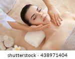 young beautiful woman having... | Shutterstock . vector #438971404