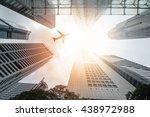 Airplane Flight Over City...