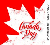 canada day greeting card.... | Shutterstock .eps vector #438977020