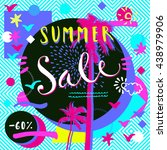 summer sale. hand lettered... | Shutterstock .eps vector #438979906